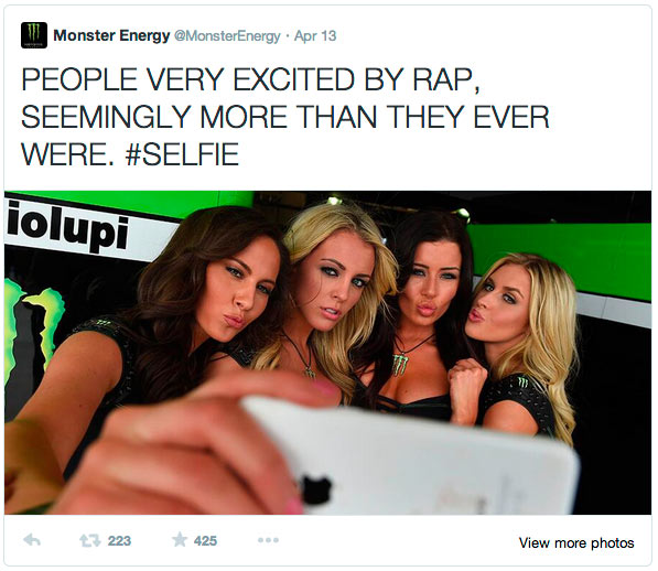 PEOPLE VERY EXCITED BY RAP, SEEMINGLY MORE THAN THEY EVER WERE.